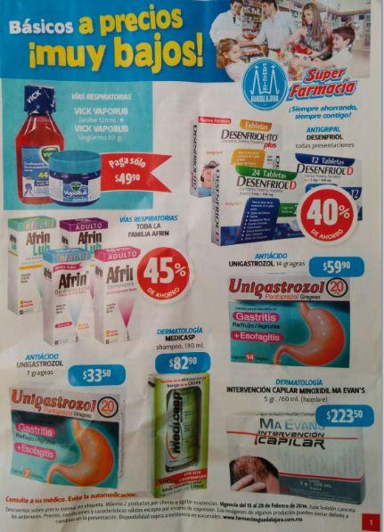 Folleto Farmacias Guadalajara del 15 al 28 de febrero del 2014