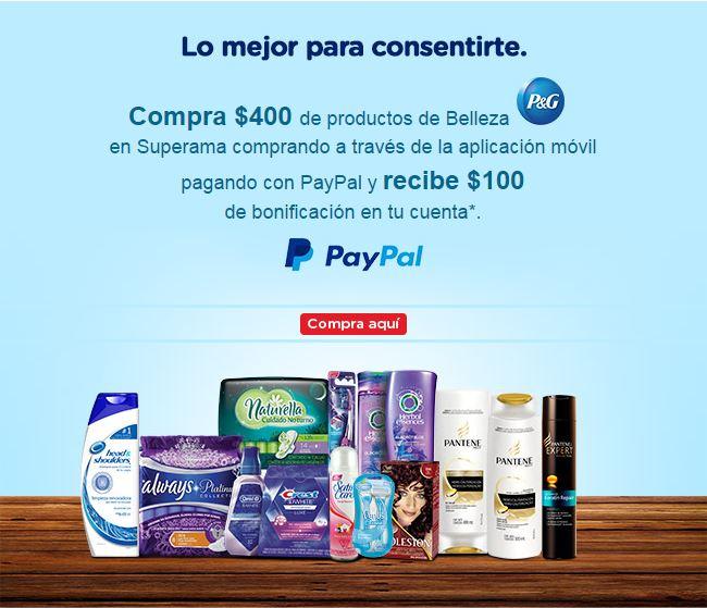 Superama: Compra $400 de productos P&G y recibe $100 de bonificación