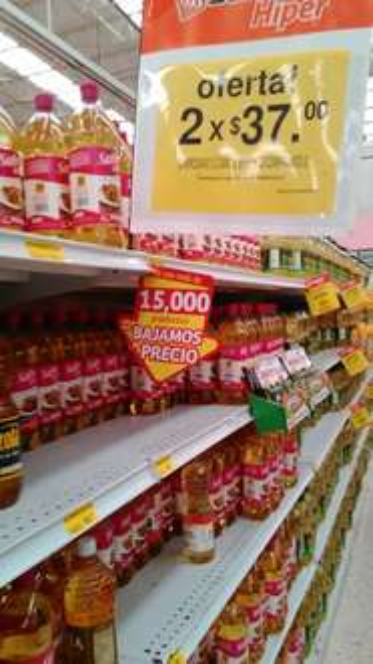 Soriana: Aceite Canoil 1Lt  2 x $37