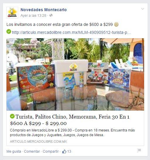 Novedades Montecarlo: Turista mundial apps, Feria 30 en 1, Memorama, Brokers, Palitos Chinos y Hielera $299