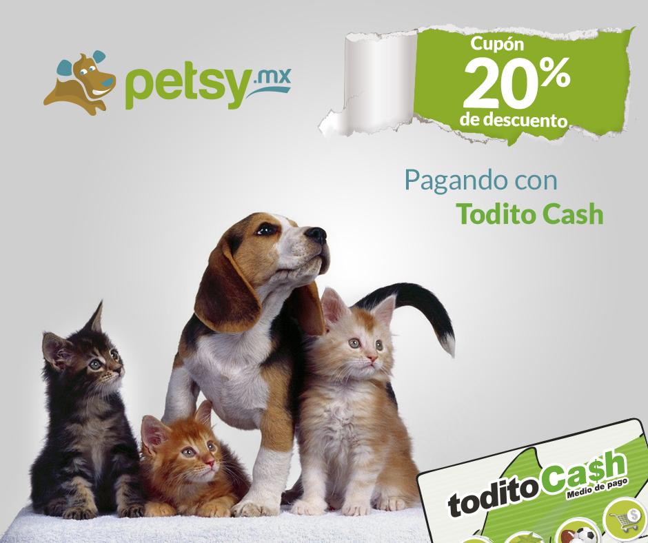 Petsy: Cupón de 200 para pedidos de minimo 500 (nuevos usuarios)