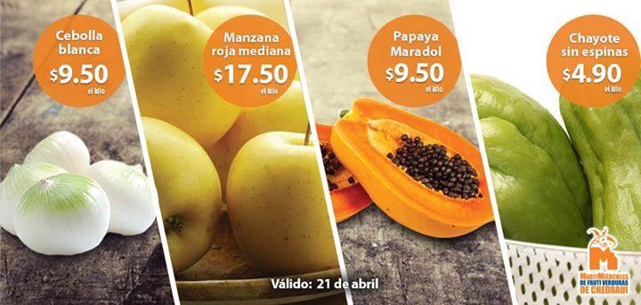 Ofertas de frutas y verduras en Chedraui 21 y 22 de abril