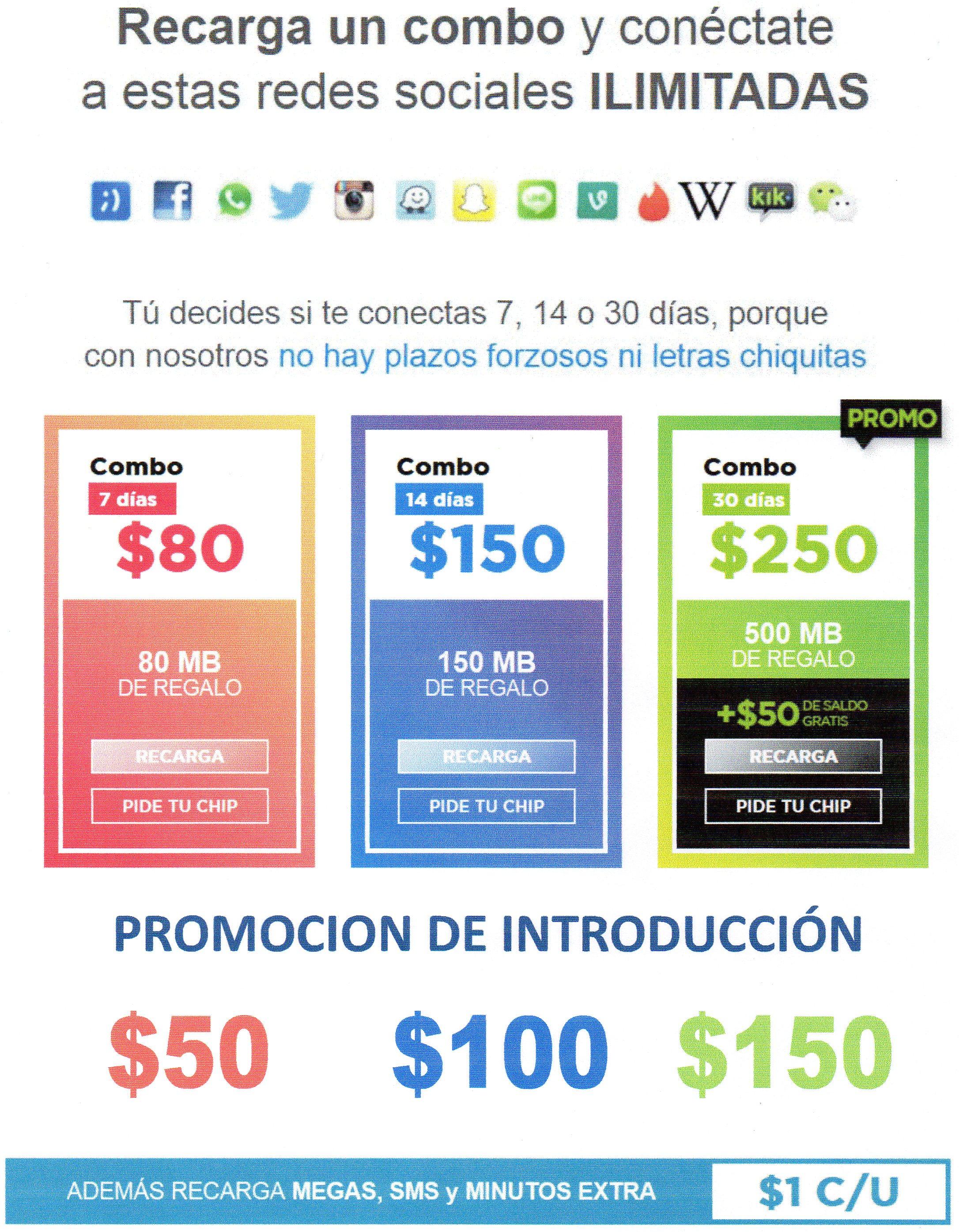 Tuenti: Promoción de Introduccion $150 un mes de Redes Sociales Ilimitadas