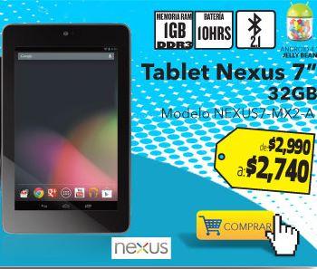 Best Buy: Nexus 7 (2012) 32GB $2,740 y envío gratis en toda la tienda