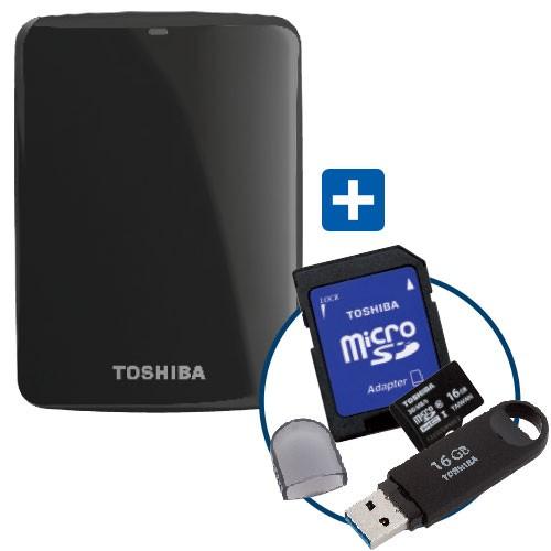 Best Buy: paquete Toshiba disco duro 1TB, tarjeta Micro SD 16GB + UBS 16GB a $1,299