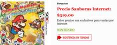 Sanborns: Paper Mario: Sticker Star 3DS a $319 con envío gratis
