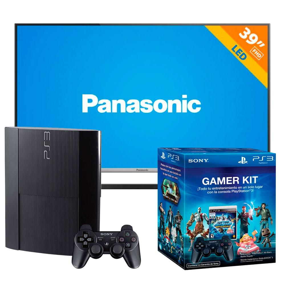 "Walmart: TV Panasonic 39"" mas PlayStation 3 mas DualShock3 y Videojuego"