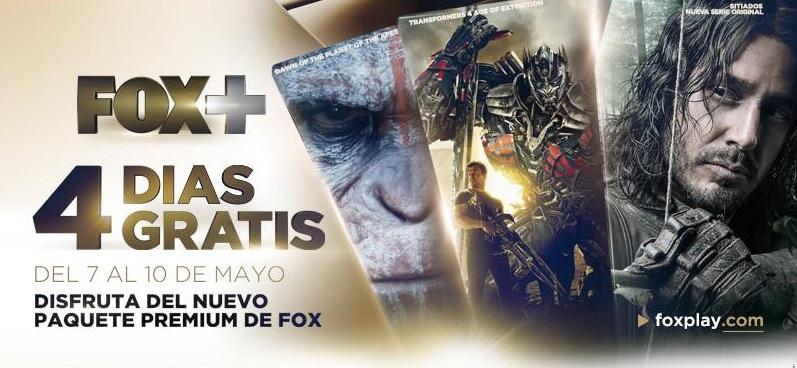 Paquete PREMIUM FOX+ Gratis del 7 al 10 de Mayo (YA ABIERTO)