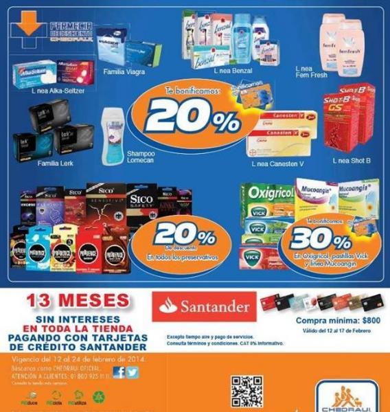 Folleto de ofertas en Chedraui del 12 al 24 de febrero (3x2 en cosméticos y más)