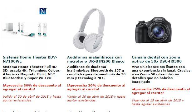 Promociones de Sony hasta 30 de abril