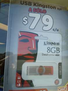 Oxxo: USB Kingston de 8 GB a $79