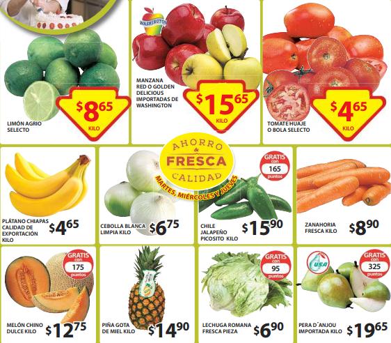 Ofertas de frutas y verduras en Soriana abril 28