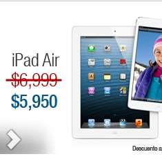 Decompras: iPad Air 16GB Wi-Fi $5,949 y 3 meses sin intereses