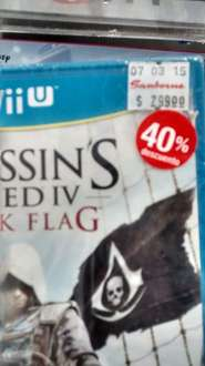Sanborns: Videojuegos 30% hasta 50% en Wii U (Ej. Assassin's Creed Pirates $179)
