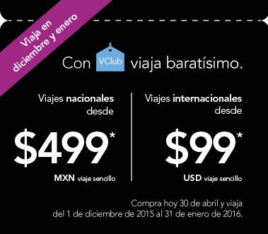Volaris: vuelos naciones desde $499 y a USA desde $99 sencillo en diciembre y enero (VClub)