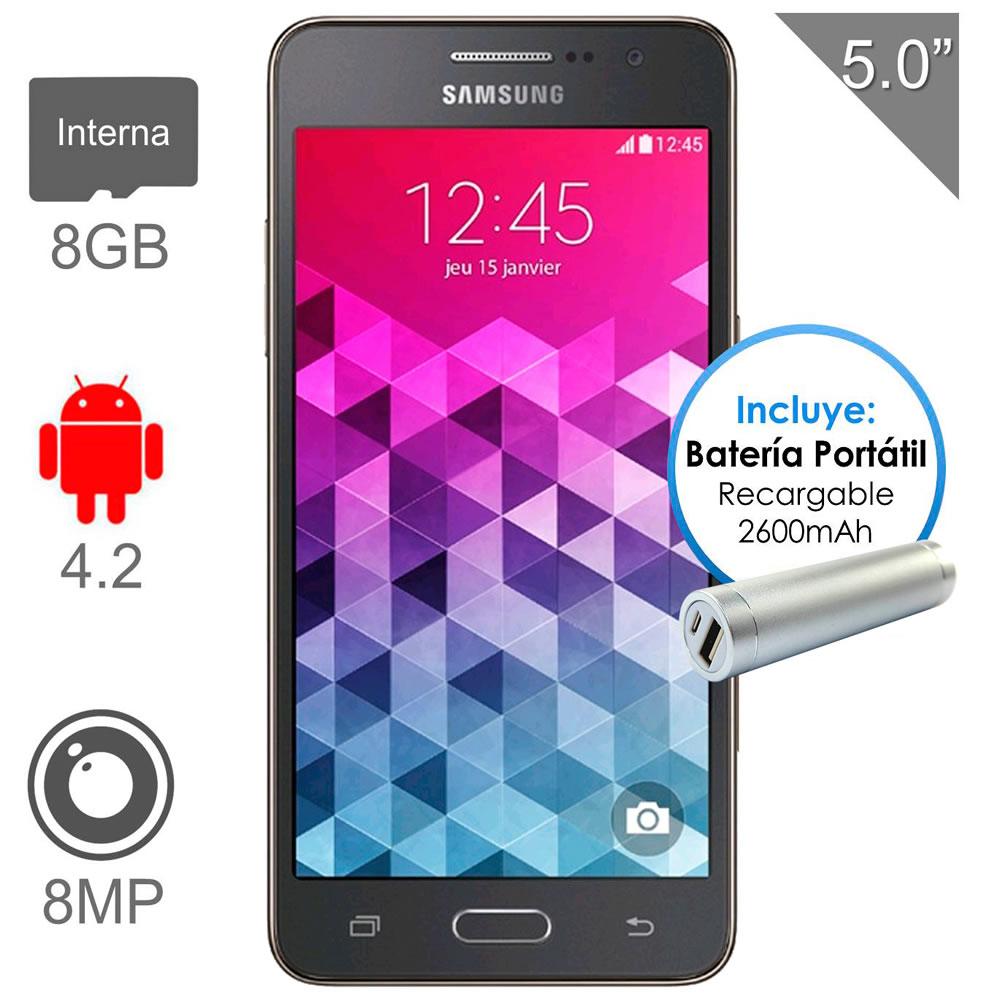 Walmart: Samsung Galaxy Grand Prime Gris incluye Bateria Portatil y envio gratis