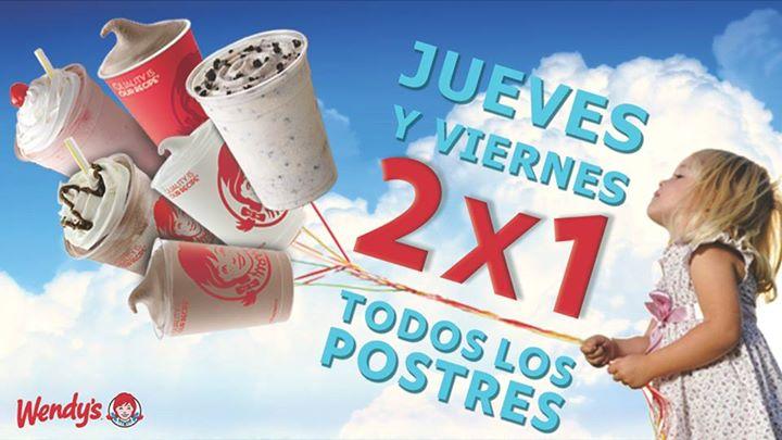 Promoción del día del niño en Wendy's: 2x1 en postres