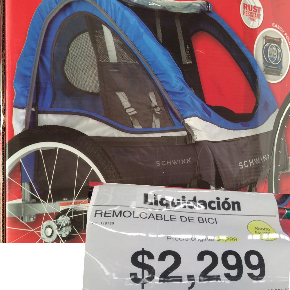 Sam's Remolque para bici ($2000 ahorro)