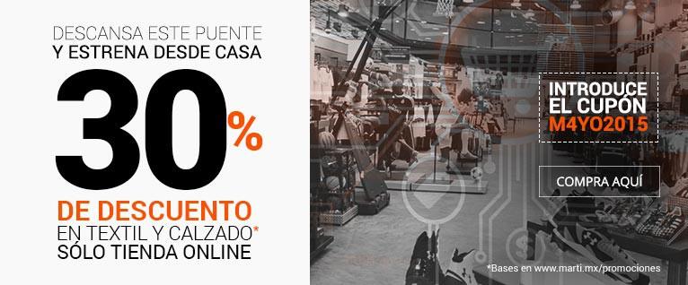 Martí: 30% DESCUENTO TEXTIL Y CALZADO + bonificación de 120 horas Banamex