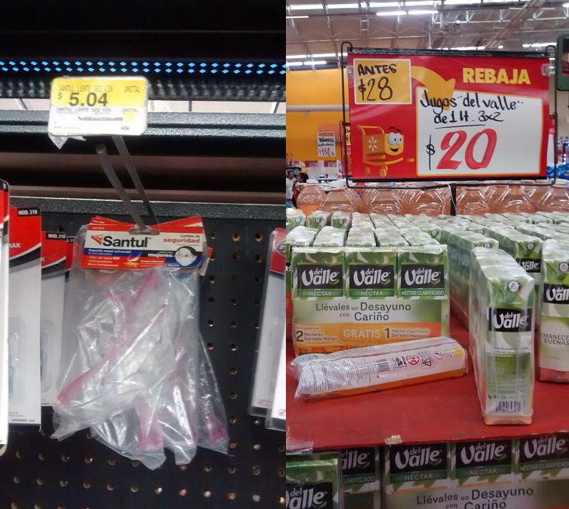 Walmart: Lentes de protección a $5.04 y 3 del Valle de Nectar 1L por $20 ($6.66 x litro)