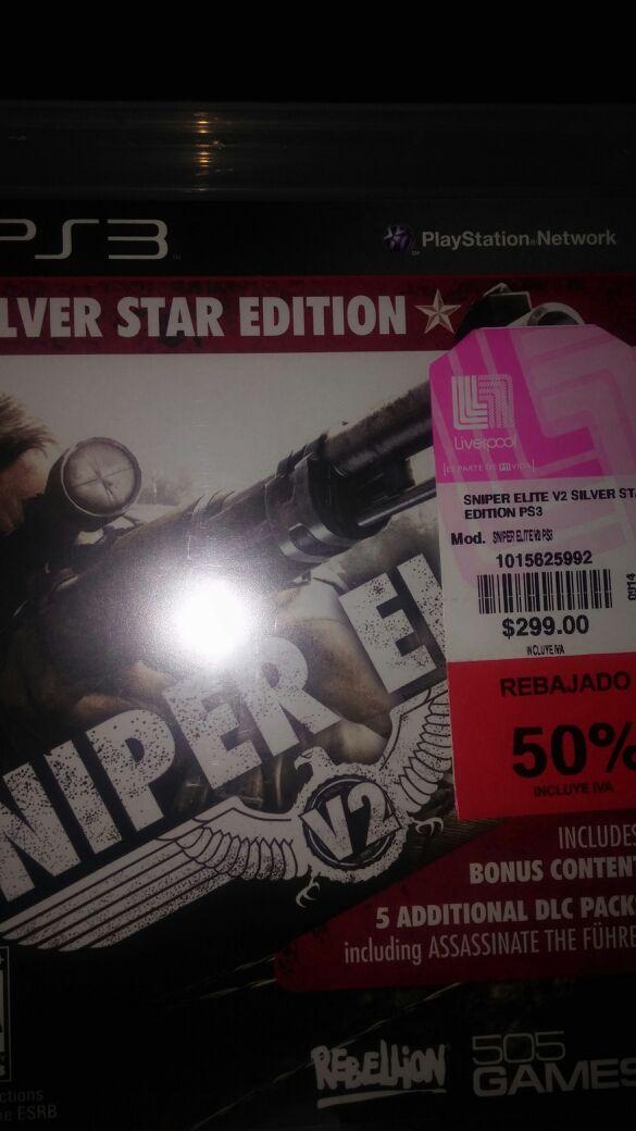 Liverpool: Sniper Elite V2 para PS3 y Xbox 360 a $150