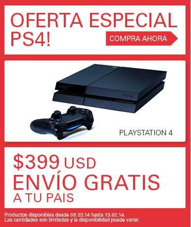 ebay Global Deals: PS4 $399 dólares y envío gratis a México