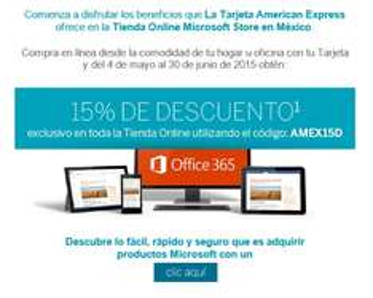 Microsoft Store: 15% de descuento pagando con American Express