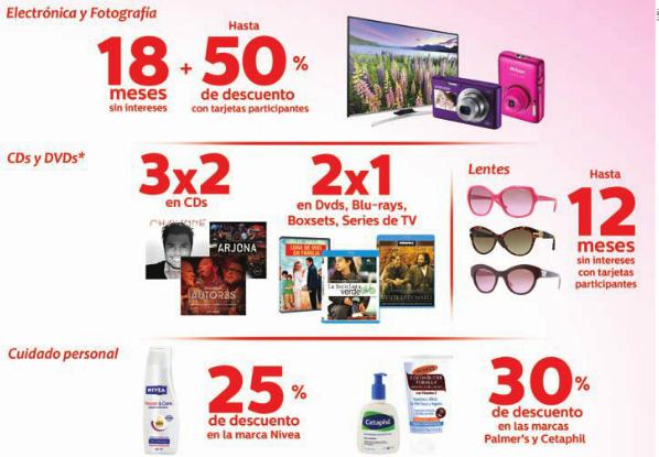 Promociones día de las madres Sanborns: 2x1 en películas y series y 3x2 en discos