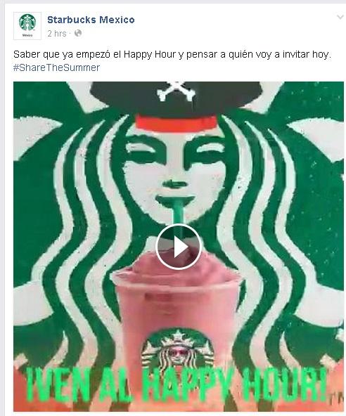Regresa Happy Hour Starbucks 3 a 7 PM: 2x1 en frappuccinos