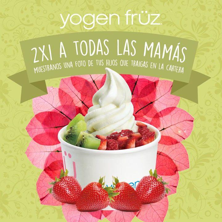 Promoción día de las madres en Yogen Früz: 2x1 enseñando foto de tus hijos