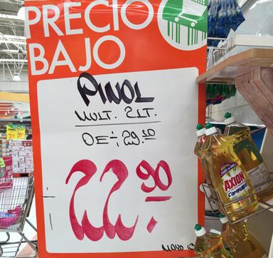 La Comer: Pinol 2 litros a $22.90