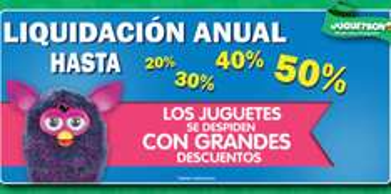 Juguetron: liquidación anual de juguetes