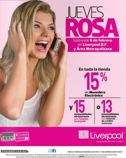 Jueves rosa en Liverpool 6 de febrero