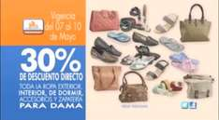 Chedraui: 30% de descuento en ropa, accesorios y zapatos para dama