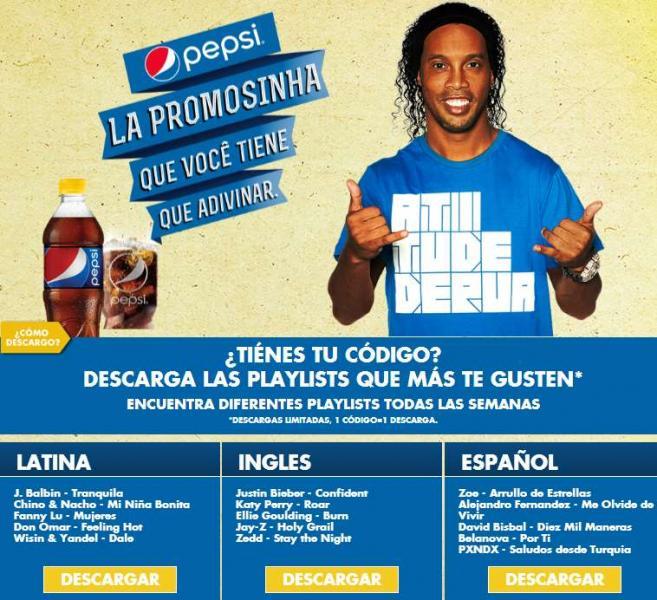 Canciones MP3, Doritos y boletos de cine gratis en tapas de Pepsi, 7up, Mirianda y más