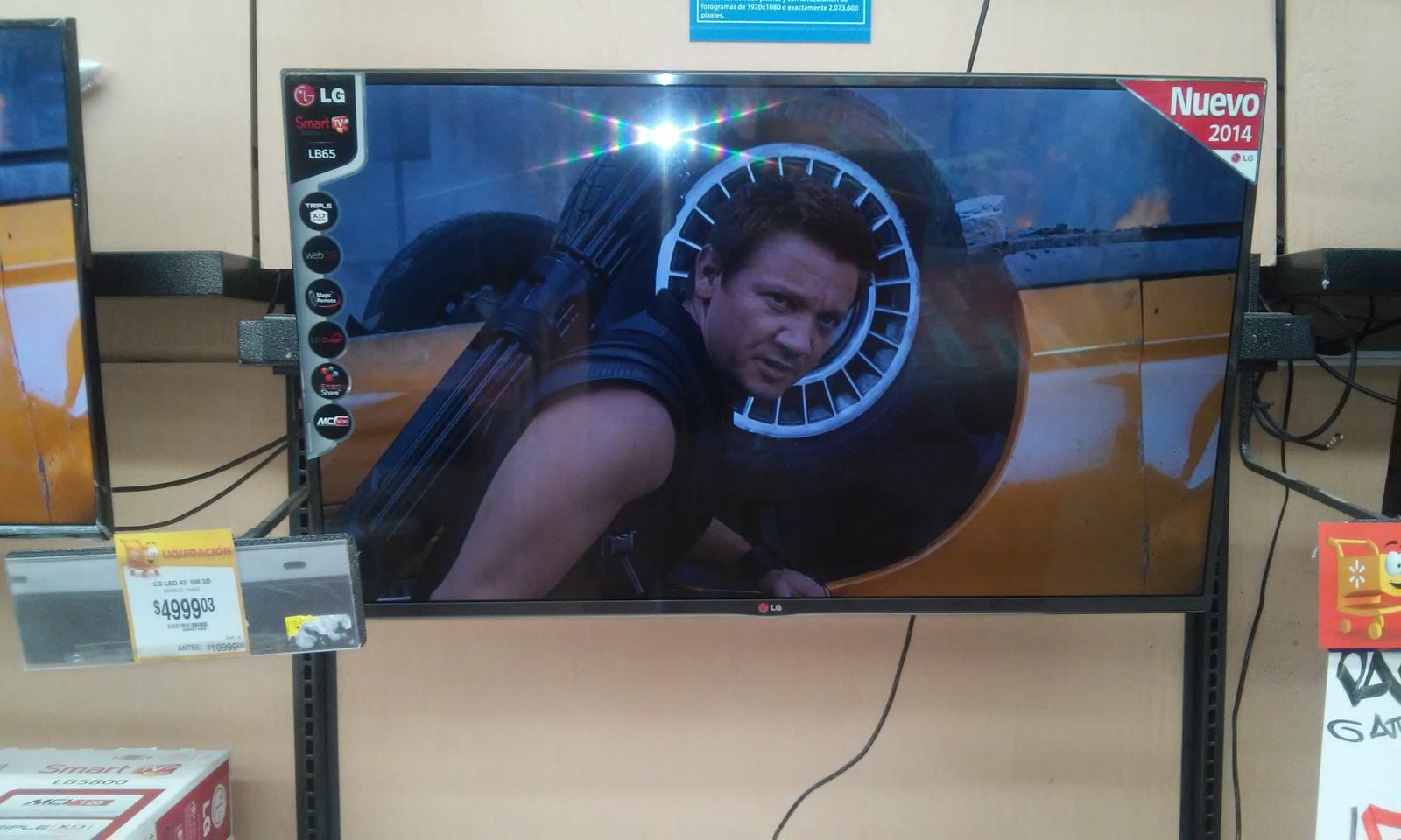 """Walmart: LG Led 42"""" Smart Tv, 3D, Magic Remote, Full HD, WebOS, de $10,999 a $4,999"""