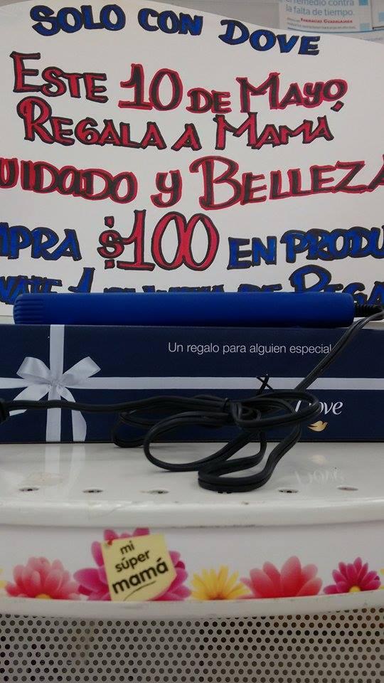 Farmacias Guadalajara: plancha de pelo gratis comprando productos Dove