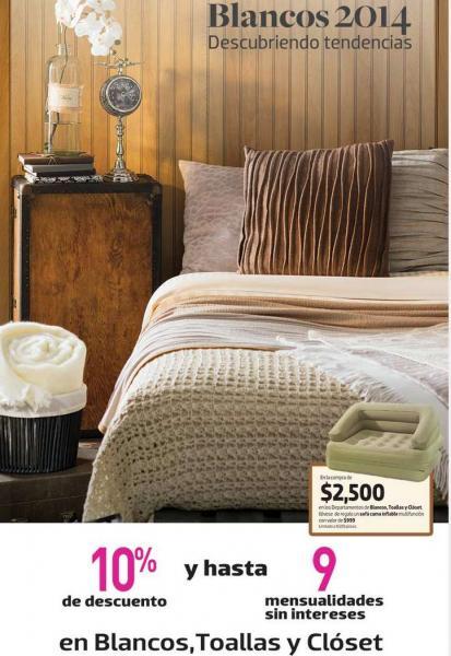 Liverpool: sofá cama inflable gratis con compra mínima en blancos, toallas y clóset