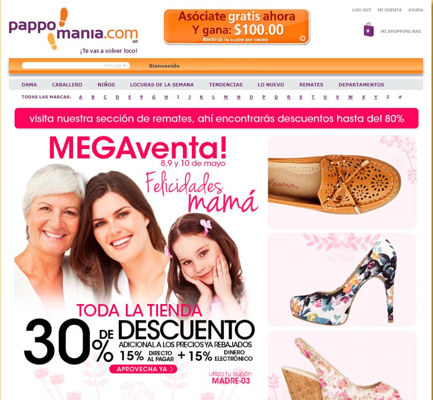 Pappomania: 15% directo y otro 15% en cupones en zapatos