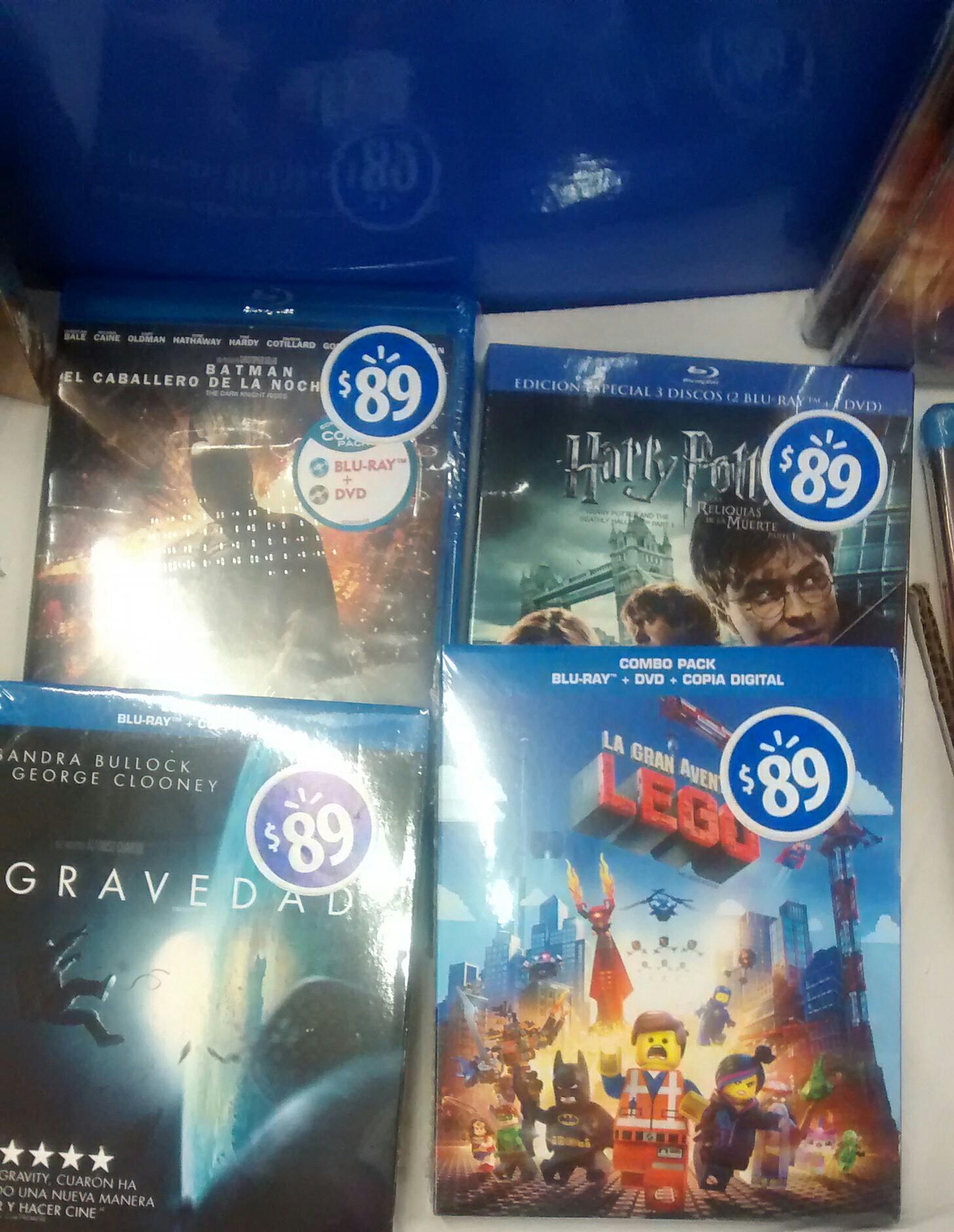 Walmart: Películas Blu-ray títulos recientes $89