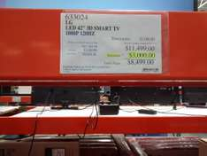 "Costco: TV LED LG 42"" webOS 3d 1080p, 120hz mod.2015 a $8,499"