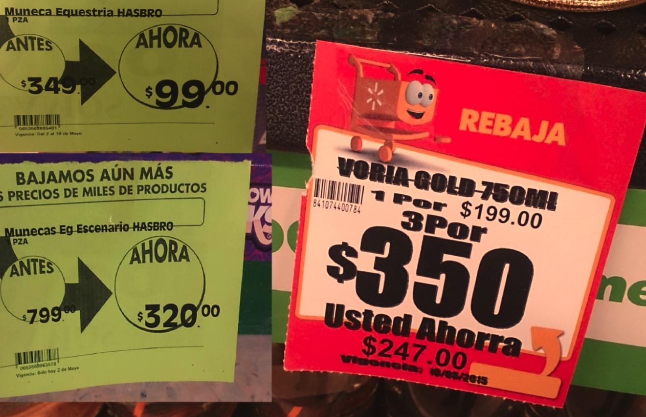 Walmart: vino Voria Gold 750ml 3x$350