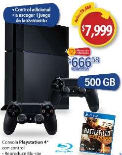 Walmart: PS4 + juego estreno + control extra $7,999 y MSI