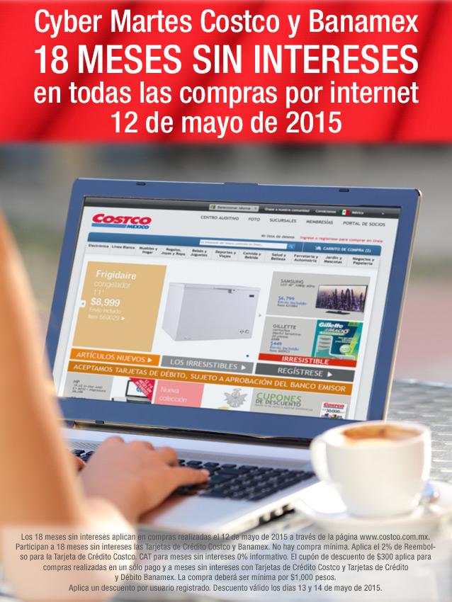 Cyber M@rtes Costco y Banamex 18MSI sin MINIMO de compras x internet