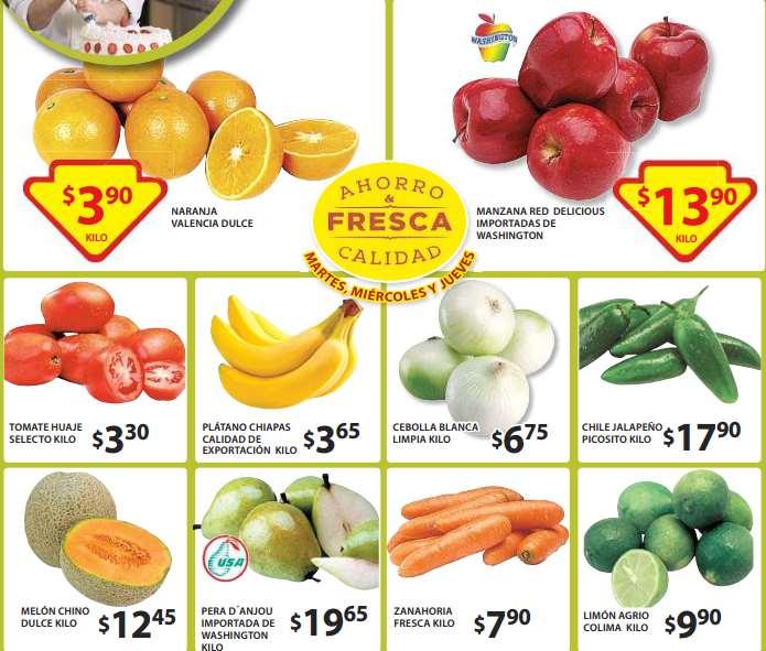 Ofertas de frutas y verduras en Soriana 12 de mayo