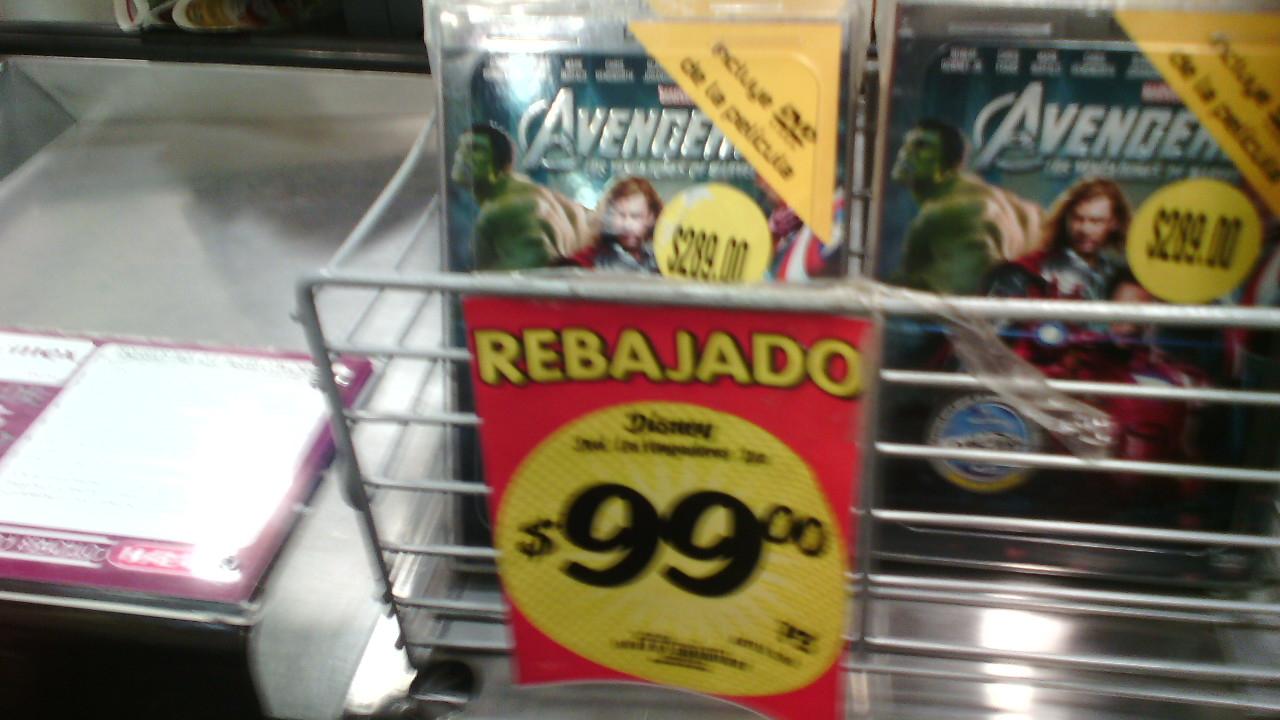 HEB: película DVD Avengers a $99