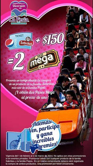2x1 en La Feria de Chapultepec comprando Sabritas y Pepsi