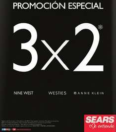 Sears: 3x2 en zapatos Nine West, Westies y Anne Klein