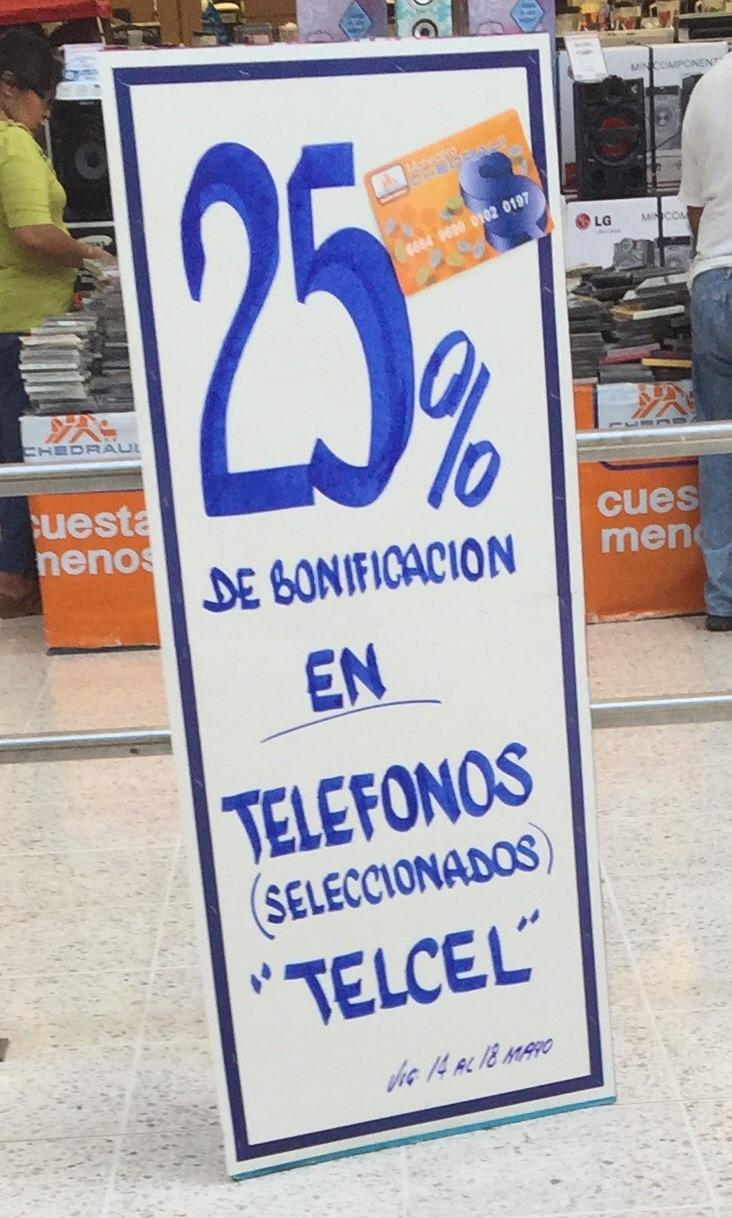Chedraui: 25% de bonificación en celulares seleccionados Telcel