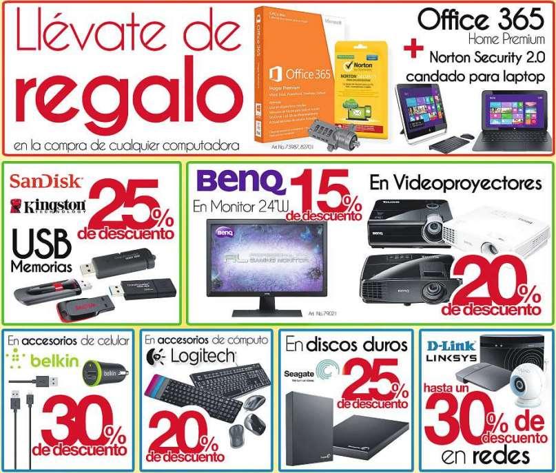 OfficeMax: gratis candado, Norton y Office 365 comprando computadora